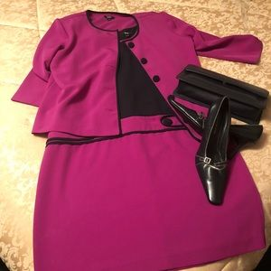 MSK Magenta and navy 2 pc dress suit